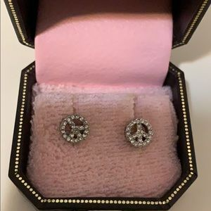 Juicy Couture Peace Sign Stud Earrings